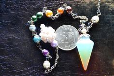 The Mermaid's Pendulum part 2 Opalite point with by SlaveLakeFire, $16.00