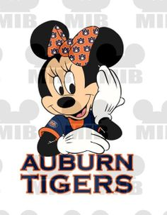 MINNIE'S DREAMIN' of Her Team - Auburn Tigers - Choose Your College or Pro Team! Printable Image for Creating Iron ons for Shirts,Tote Bags on Etsy, $4.50