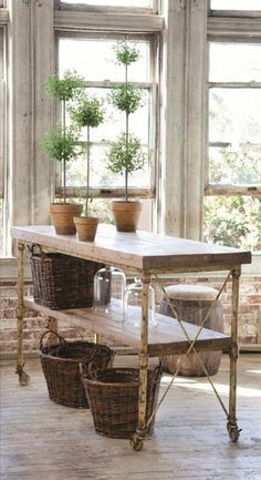 Fabulous table for gardening or for a kitchen, studio, entry ... wherever!