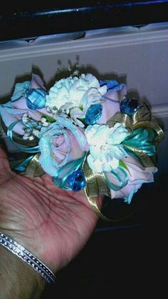 Wristlet corsage for fairytale sweet 16