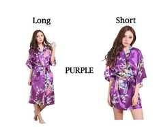 Bridesmaids robes, Floral Bridal Party Robes,Bridesmaid Robe, Kimono Robe, Regular and Plus Size Robes Purple. Bridesmaid Robes, Bridesmaids, Plus Size Robes, Bridal Party Robes, Long Shorts, Peacock, Summer Dresses, Trending Outfits, Lady