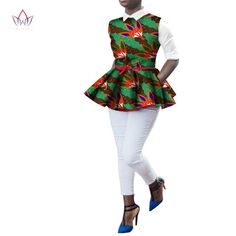 Wow on Date Night in our Date Night Peplum Top. African Print Fashion, African Attire, African Women, Shirt Style, Female, Clothes For Women, Casual Tops, Ankara, Peplum