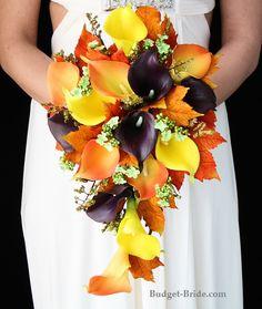 Fall Calla Lily Wedding Flower Bouquet