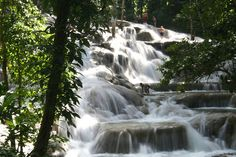 Dunn River Falls, Jamaica. Can't forget this place.... Broke my foot on the falls!!!