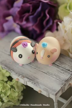 Lovely guinea pigs Wedding Cake Topper #cute animals
