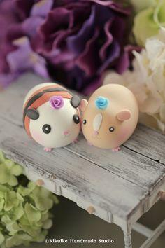 Lovely guinea pigs Wedding Cake Topper #cute animals