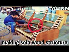 (272) how to make sofa wood structure reclainer type making - YouTube Diy Furniture Upholstery, Furniture Makeover, How To Make Sofa, Art Deco Chair, Wooden Sofa Designs, Living Room Sofa Design, Wood Structure, Wood Sofa, Sofa Frame