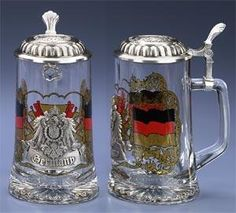 GLASS GERMANY BEER STEIN