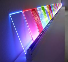 Exploring lighting effects - black light with coloured acrylics | pinned by www.peregrineplastics.com