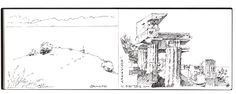 Skizzenbuch+Sizilien, Sicily, Architecture Sketch - Architectural Design Drawings, Inspiration for Architects, Graphic Designers , Architect Jobs and CAPI Students of Structure and Design Elements , Art School Portfolio Work Keeping Sketchbooks, How to Draw Buildings, How to Sketch Architecture, How to Keep a Sketchbook