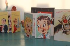Vintage humorous  greetings cards/ Free shipping by Brimfieldfinds, $25.00
