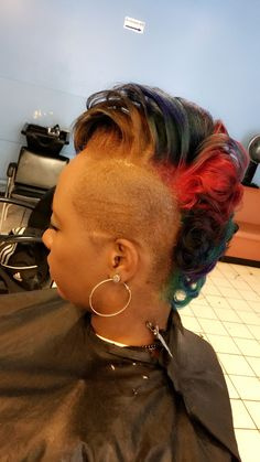 All natural hair style and color
