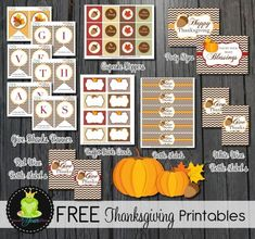 Free printables Thanksgiving collection