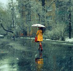 I Love Rain! This picture is so peaceful! I Love Rain, No Rain, Rain Storm, Rain Umbrella, Under My Umbrella, Walking In The Rain, Singing In The Rain, Rainy Night, Rainy Days