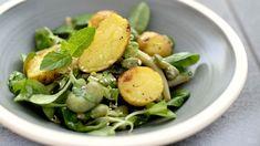 true taste hunters - kuchnia roślinna: Orzeźwiająca sałatka z bobem, fasolką szparagową i młodymi ziemniaczkami