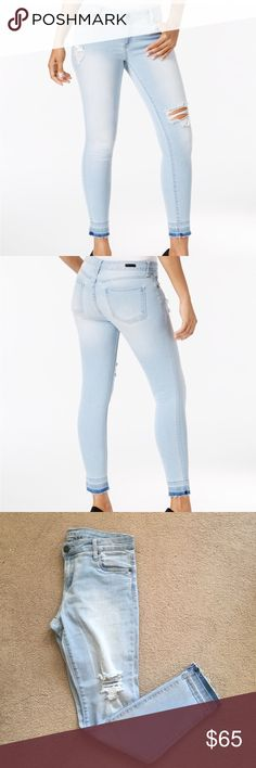 """Kut from the Kloth """"mia"""" skinny jean Worn once and in perfect condition. I wore them once around the house and unfortunately is too big for me. Very soft and comfortable denim. 8 petite and fits true to size. About 27.5 inseam, 9 inch rise. No trades, looking to sell 😊 Kut from the Kloth Jeans Skinny"""