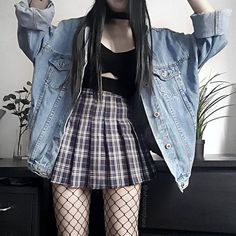 ✔ Aesthetic Outfits Grunge Pastel Goth Source by outfits Grunge Outfits, Tumblr Outfits, Edgy Outfits, Mode Outfits, Grunge Fashion, Girl Fashion, Girl Outfits, Fashion Outfits, Gothic Fashion