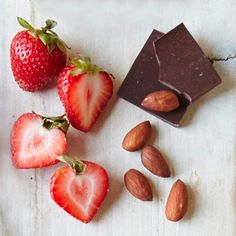 Protein-Packed Snack Recipes: Chocolate-Almond Strawberries   CookingLight.com