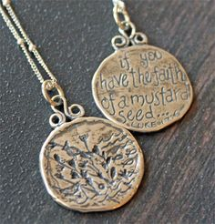 Mustard Seed Faith.  Sterling Pendant... Made in the USA!  $78.43