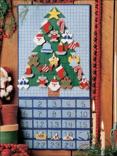 Plastic Canvas - Advent Calendar