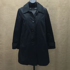 Micheal Kors Black Jacket Michael Kors, black, 3 button, rain repellant jacket with removable liner, size PS Michael Kors Jackets & Coats Pea Coats