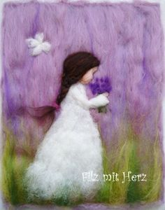 Flower Greetings 2 by Felt With Heart