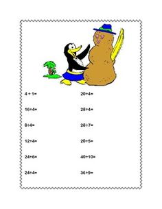 MULTIPLICATION AND DIVISION PRACTICE TABLES 1-10 PENGUIN THEME - TeachersPayTeachers.com