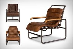 VINTAGE LEATHER CHAIRS | BY SARREID  This collection of vintage chairs is distinctively eclectic, of high quality, and a source of lasting pleasure.
