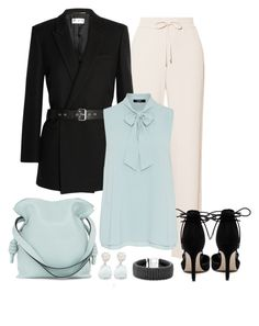 """""""Work attire"""" by gallant81 ❤ liked on Polyvore featuring Theory, Verali, Yves Saint Laurent, Nadri, Loewe, Hallhuber and Lagos"""