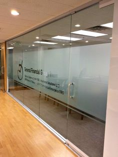 Custom cut frost band for conference room with company logo in the negative space Office Cabin Design, Office Interior Design, Office Interiors, Frosted Glass Window, Glass Door, Glass Art, Glass Office Doors, Office Graphics, Dental Office Decor