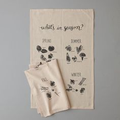 """What's In Season Tea Towel 