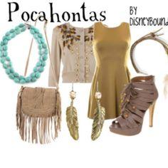 Pocahontas Disneybound(:
