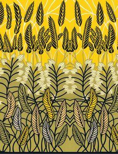 Petra field illustration. Wheat.