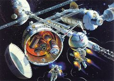 Check out the official site of Robert McCall's amazing collection here.: