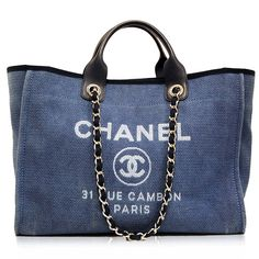 Chanel Blue Cabas Ete Canvas Tote  http://www.consignofthetimes.com/product_details.asp?galleryid=6330