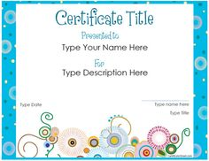 A good looking certificate brochure template to create certificates website offering free printable certificates for all sorts of things yadclub