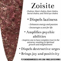 Zoisite crystal meaning