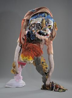 Elisabeth Higgins O'Connor is a sculptress and textile artist residing in Sacramento, California. She creates sculptures of slumped, exaggerated animal-like creatures using remnants of common material Sculpture Clay, Soft Sculpture, Sacramento, Waste Art, Trash Art, Fabric Animals, Monster Dolls, Polymer Clay Dolls, Effigy