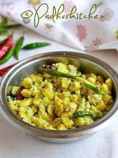 Vazhakkai Poriya l- Raw plantain curry