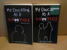 LOT 2 SIGNED My Education As a Vampire B Michael Allen~1 Zach AND 2 The Twins
