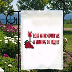 Does Wine Count As Fruit New Small Garden Yard Flag - $12.99 - Handmade Root, Crafts and Unique Gifts by Floozees Doozees  #winelovers #giftsforwinelovers #handmadeholidays #thecraftstar