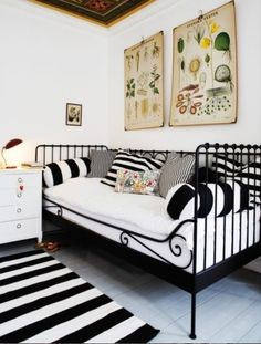 Ikea Meldal. Miss A has it in white. Might make red and white pillows like this. Adorable!