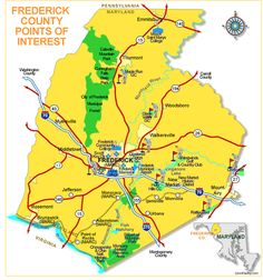 Points of Interest in Frederick County Maryland