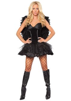 Devilish Dark Angel costume #Halloween #Sexy