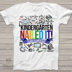 Kindergarten graduation shirt - graduation boy kindergarten nailed it personalized graduation Tshirt  mscl-004 by zoeysattic on Etsy https://www.etsy.com/listing/522804695/kindergarten-graduation-shirt-graduation