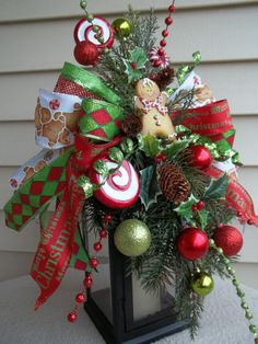 SWEET & SPICY  Decorative Holiday Swag/Bow by DecorClassicFlorals