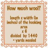 Hooked rug project formula - How much wool do I need?