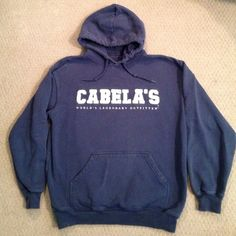 Cabela's Sweatshirt size S in Navy Comfy, warm, and slightly loved. Great quality. Just make an offer! Cabela's Tops Sweatshirts & Hoodies