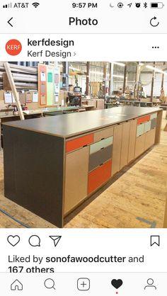 Shop Cabinets, Kitchen Cabinets, Kitchen Dining, Kitchen Island, Plywood Shelves, Workshop Storage, Birch Ply, Cabinet Ideas, Plywood Furniture