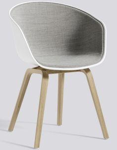 Hay - About A Chair coque plastique, piètement bois